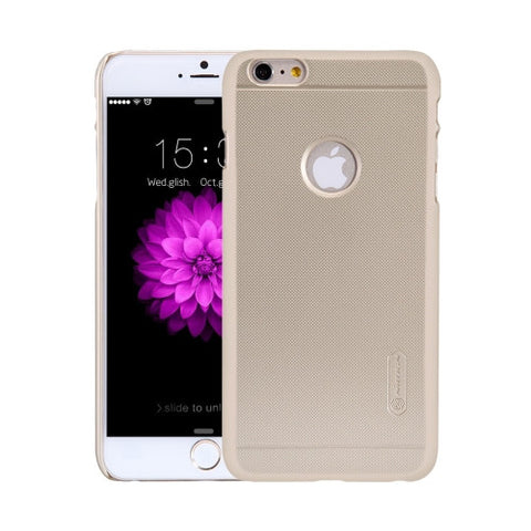 NILLKIN Frosted Shield for iPhone 6 Plus & 6s Plus Concave-convex Texture PC Protective Case Back Cover(Gold)