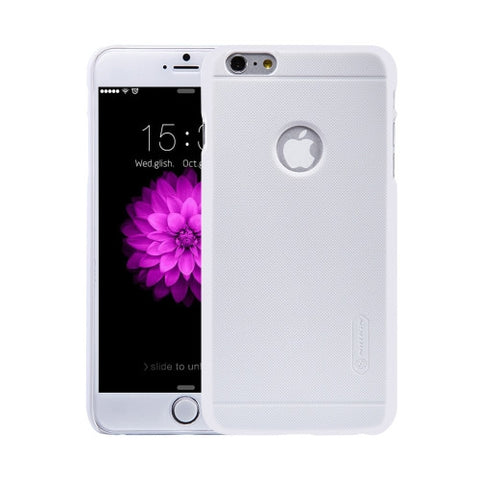 NILLKIN Frosted Shield for iPhone 6 Plus & 6s Plus Concave-convex Texture PC Protective Case Back Cover(White)