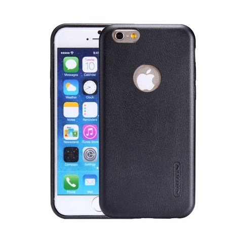 NILLKIN Victoria Leather Cover for iPhone 6 Plus & 6s Plus Leather Surface Microfiber Lining Protective Case Back Cover(Black)
