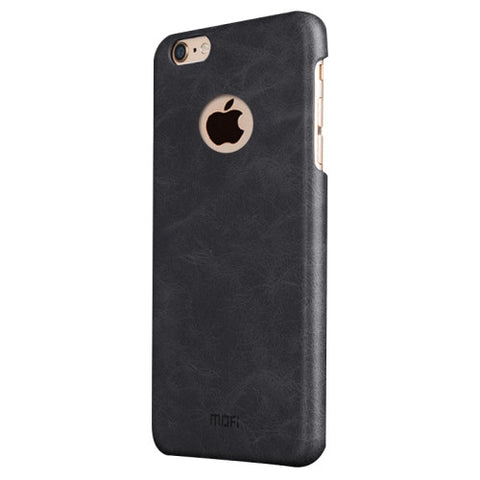 MOFI for iPhone 6 Plus & 6s Plus Crazy Horse Texture Leather Surface PC Protective Case Back Cover(Black)