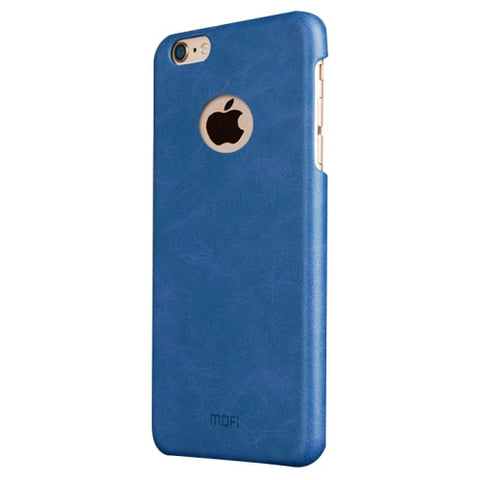MOFI for iPhone 6 Plus & 6s Plus Crazy Horse Texture Leather Surface PC Protective Case Back Cover(Dark Blue)