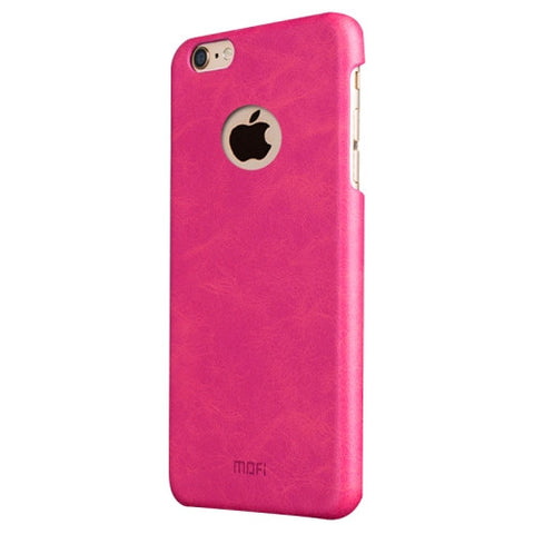 MOFI for iPhone 6 Plus & 6s Plus Crazy Horse Texture Leather Surface PC Protective Case Back Cover(Magenta)