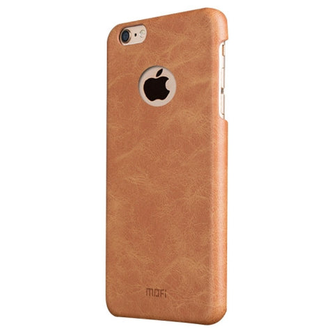 MOFI for iPhone 6 Plus & 6s Plus Crazy Horse Texture Leather Surface PC Protective Case Back Cover(Brown)