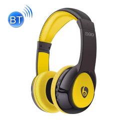 OVLENG S99 Bluetooth Stereo Headset Headphones with Mic Support FM & TF Card(Yellow)