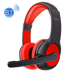 OVLENG V8-3 Bluetooth Stereo Headset Headphones with Mic Support FM & TF Card(Red)