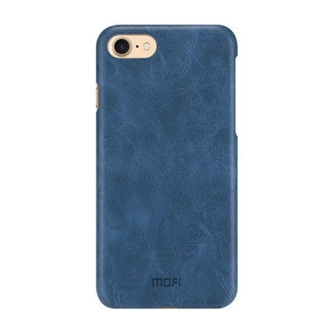 MOFI for iPhone 7 Crazy Horse Texture Leather Surface PC Protective Case Back Cover(Dark Blue)
