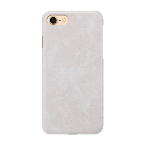 MOFI for iPhone 7 Crazy Horse Texture Leather Surface PC Protective Case Back Cover(White)