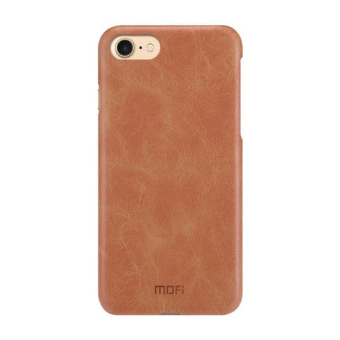 MOFI for iPhone 7 Crazy Horse Texture Leather Surface PC Protective Case Back Cover(Brown)