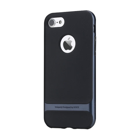 Rock Royce Series for iPhone 7 Business Style TPU + PC Protective Case(Navy Blue)