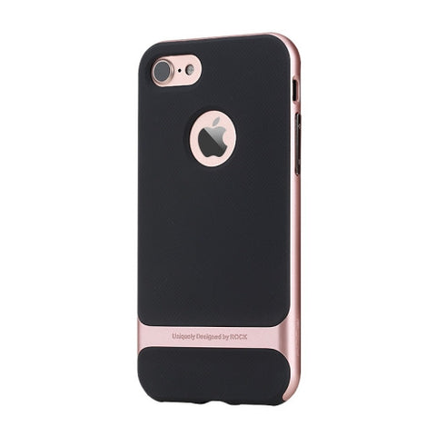 Rock Royce Series for iPhone 7 Business Style TPU + PC Protective Case(Rose Gold)
