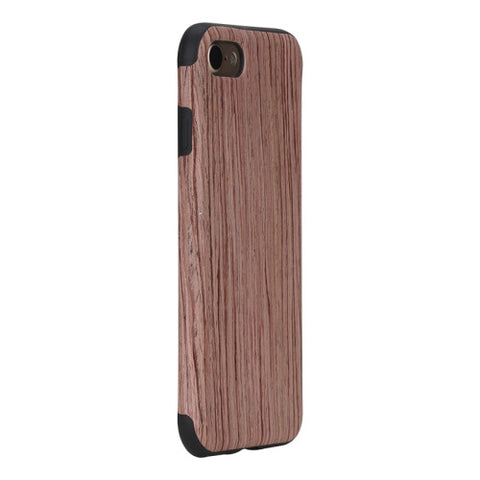 Rock for iPhone 7 Natural Series Artistic Wood Grain TPU Protective Back Case(Rosewood)