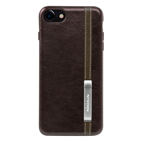 NILLKIN Phenom Case for iPhone 7 Business Style Leather Surface PC Protective Case Back Cover with Soft TPU Frame & Magnetic Meatl Holder(Coffee)