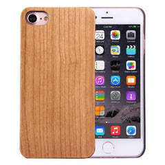 For iPhone 7 Artistic Cherry Wood + PC Bordure Protective Back Case Shell