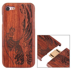 For iPhone 7 Artistic Wave Pattern Separable Rosewood Protective Back Case Shell