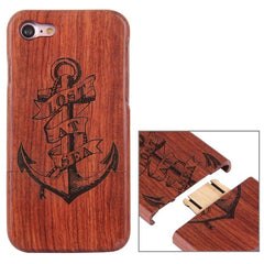 For iPhone 7 Artistic Anchor Pattern Separable Rosewood Protective Back Case Shell