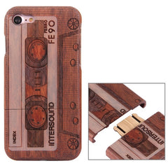 For iPhone 7 Artistic Audiotape INTERSOUND Pattern Separable Rosewood Protective Back Case Shell