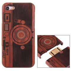 For iPhone 7 Artistic M9 Camera Pattern Separable Rosewood Protective Back Case Shell