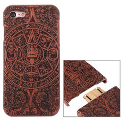 For iPhone 7 Artistic Mayan Pattern Separable Rosewood Protective Back Case Shell