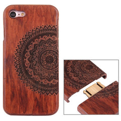 For iPhone 7 Artistic Mandala Pattern Separable Rosewood Protective Back Case Shell