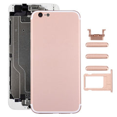 iPartsBuy 6 in 1 Full Assembly Metal Housing Cover with Appearance Imitation of iPhone 7 for iPhone 6 Including Back Cover & Card Tray & Volume Control Key & Power Button & Mute Switch Vibrator Key & Sign(Rose Gold)
