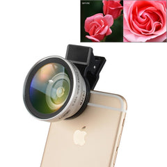 ZOMEI Universal 0.45X Wide Angle Lens with Clip for iPhone Samsung HTC Sony Huawei Xiaomi Meizu(Silver)