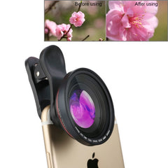 ZOMEI Universal 4K Wide Angle Lens + MC UV Lens Filter with Clip for iPhone Samsung HTC Sony Huawei Xiaomi Meizu