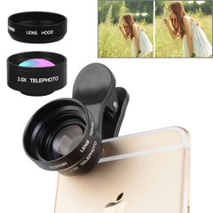 ZOMEI Universal 17mm 2.0X Telephoto Lens with Metal Lens Hood & Clip for iPhone Samsung HTC Sony Huawei Xiaomi Meizu
