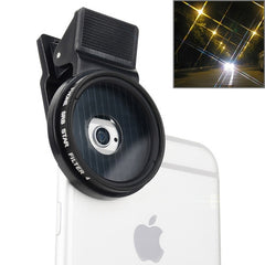 ZOMEI Universal Proffesional Camera Lens 37mm Star 4 Filter for iPhone Samsung HTC Sony Huawei Xiaomi Meizu
