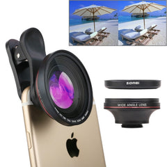 ZOMEI 3 in 1 Universal 4K 100 Degrees Wide Angle Lens + 37mm CPL Filter + Lens Clip for iPhone Samsung HTC Sony Huawei Xiaomi Meizu
