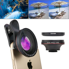 ZOMEI 4 in 1 Universal 4K 100 Degrees Wide Angle Lens + 37mm CPL + UV Filter + Lens Clip for iPhone Samsung HTC Sony Huawei Xiaomi Meizu
