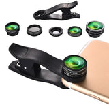 HAUTIK HK-001 5 in 1 Universal 198 Degree Fisheye Lens + 15X Marco Lens + 0.6X Wide Lens + 2X Telephoto Lens + CPL Phone Lens Kit with Clip for Smartphones / Ultra-thin Digital Camera