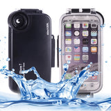 For iPhone 7 40m Waterproof Diving Housing PC + ABS Protective Case (Black)