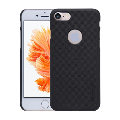 NILLKIN Frosted Shield for iPhone 7 Concave-convex Texture PC Protective Case Back Cover(Black)