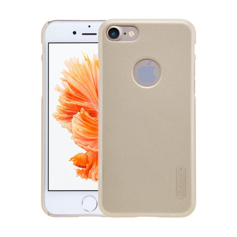 NILLKIN Frosted Shield for iPhone 7 Concave-convex Texture PC Protective Case Back Cover(Gold)