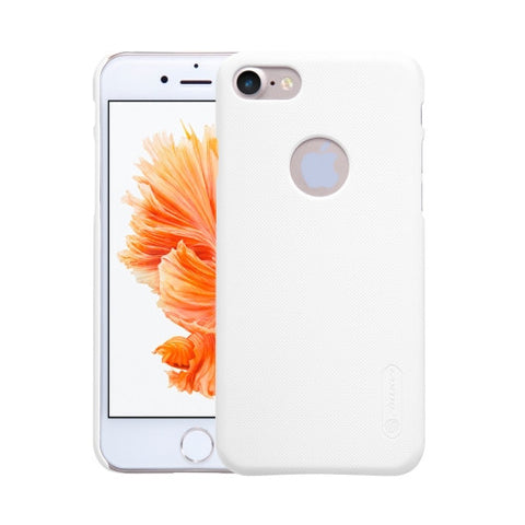 NILLKIN Frosted Shield for iPhone 7 Concave-convex Texture PC Protective Case Back Cover(White)