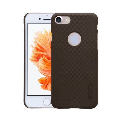 NILLKIN Frosted Shield for iPhone 7 Concave-convex Texture PC Protective Case Back Cover(Brown)