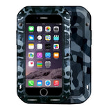 LOVE MEI for iPhone 7 City Camouflage Patterns Professional and Powerful Dustproof Shockproof Anti-slip Metal Protective Case