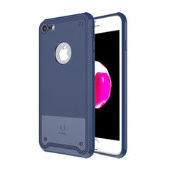Baseus For iPhone 7 2.2mm Soft TPU Protective Back Cover Shield Case(Dark Blue)