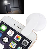 3 Level Adjustable 9 LEDs Mini Night Using Selfie Flash Light with Clip and Charging Cable for iPhone & Samsung & HTC & Sony & LG & Huawei & Xiaomi (White)