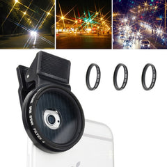 ZOMEI M3 4 in 1 Universal Proffesional Camera Lens 37mm Star 4 & 6 & 8 Filter + Lens Clip for iPhone Samsung HTC Sony Huawei Xiaomi Meizu