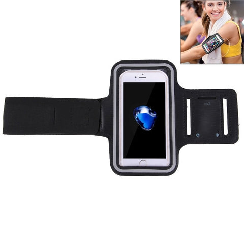For iPhone 7 Sport Armband Case with Key Pocket(Black)
