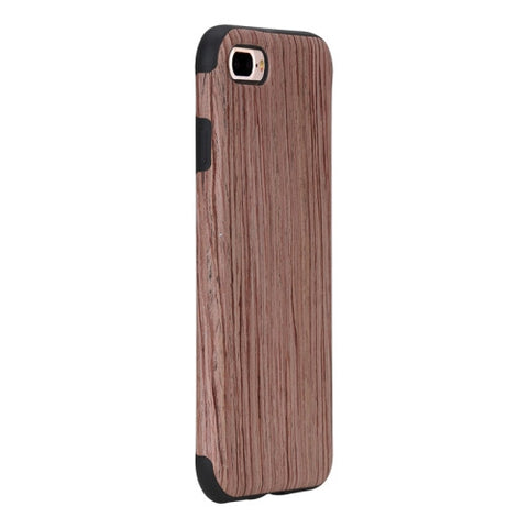 Rock for iPhone 7 Plus Natural Series Artistic Wood Grain TPU Protective Back Case(Rosewood)