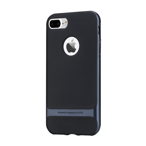 Rock Royce Series for iPhone 7 Plus Business Style TPU + PC Protective Case(Navy Blue)