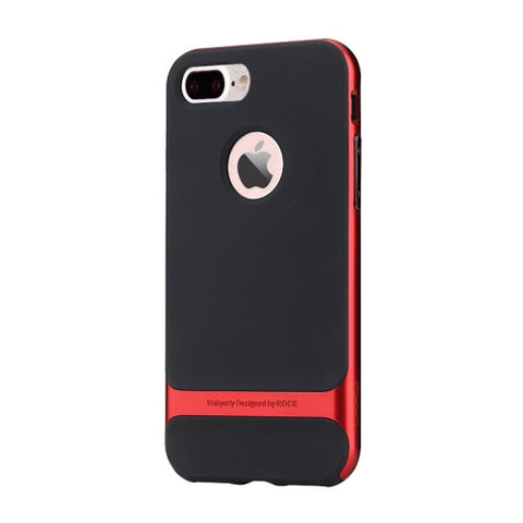 Rock Royce Series for iPhone 7 Plus Business Style TPU + PC Protective Case(Red)