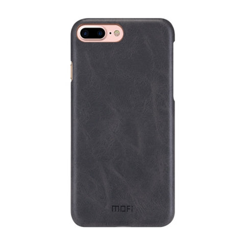 MOFI for iPhone 7 Plus Crazy Horse Texture Leather Surface PC Protective Case Back Cover(Black)