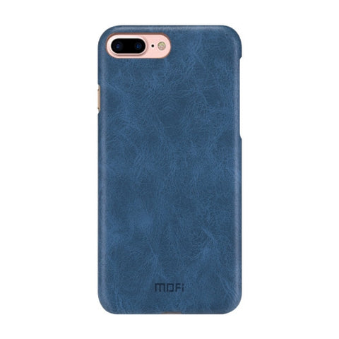 MOFI for iPhone 7 Plus Crazy Horse Texture Leather Surface PC Protective Case Back Cover(Dark Blue)