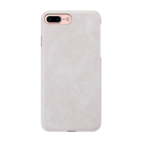MOFI for iPhone 7 Plus Crazy Horse Texture Leather Surface PC Protective Case Back Cover(White)