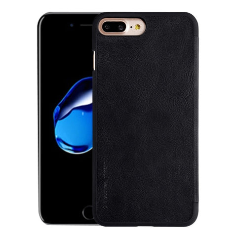 NILLKIN QIN Series For iPhone 7 Plus Business Style Horizontal Flip Leather Case with Card Slot(Black)