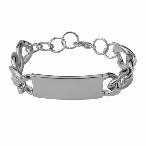 Hot chunky chain ID bracelet - Rhodium color