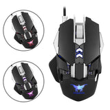 Combatwing CW30 4 Colorful Lights 7 Buttons 3200 DPI Wired Gaming Mouse Mice with 1000Hz Return Rate Weight Tuning Counterweight for Computer PC Laptop Macbook (Black)